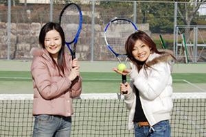 岡山県・勝英自動車学校・テニスコート